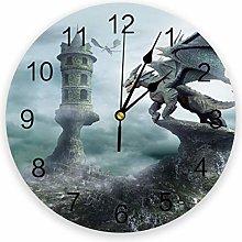 Eld Diameter 25cm Dragon Wall Clock For Home