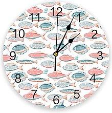 Eld Diameter 25cm Fish Wall Clock Kitchen Home