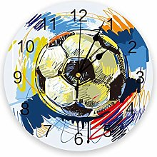 Eld Diameter 25cm Football Watercolor Brush Sport