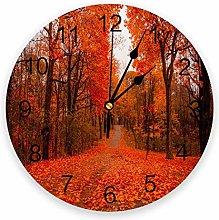 Eld Diameter 25cm Forest Red Maple Leaves Scenery