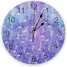 Eld Diameter 25cm Jellyfish Wall Clock Kitchen