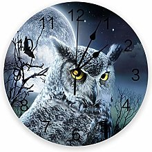 Eld Diameter 25cm Moon Owl Nocturnal Animal Wall