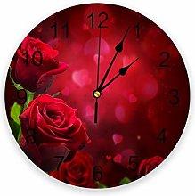 Eld Diameter 25cm Red Rose Flower Romantic Wall