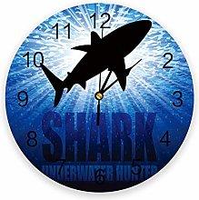 Eld Diameter 25cm Shark Silhouette Deep Sea Wall