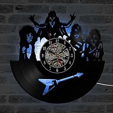 Eld Fashion Rock Band Hollow Record Clock