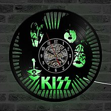 Eld Rock Band LED Record Wall Clock Modern Design