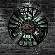 Eld Rock Music Play Clock Vinyl Record Wall Clock