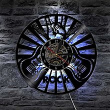 Eld Rock Music Play Wall Clock Vinyl Record Wall