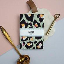 Eleanor Bowmer - Mint Leopard Print Tea Towel