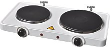 ELECTRIC 2500W TWIN DUAL DOUBLE HOT PLATE TABLE