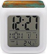 Electric Alarm Clock Night Light Nap Timer 7 Color