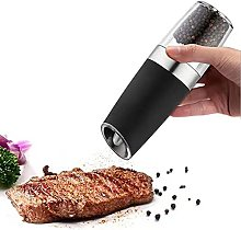 Electric Automatic Nut Pepper Mill Abs + Stainless