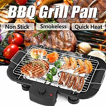 Electric BBQ Barbecue Grill Griddle Table Top