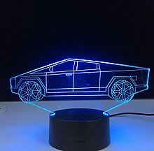 Electric Car Design 3D Illusion Table Lamp Child