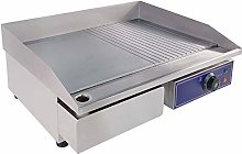 Electric Countertop Griddle, Stainless Steel