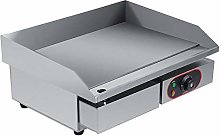 Electric Countertop Griddle, Stainless Steel Large