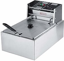 Electric Deep Fat Fryer with Basket, 6L Electric