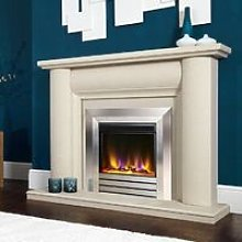 Electric Fire Inset Fireplace Heater Modern LED