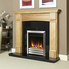 Electric Fire Inset Fireplace Heater Modern Satin