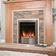 Electric Fire Inset Fireplace Heater with Remote