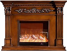 Electric fireplace heater Carved decorative