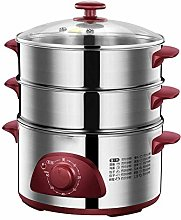 Electric Food Steamer, Multi-Function Three-Layer