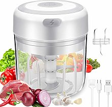 Electric Garlic Chopper, Portable Food Slicer and