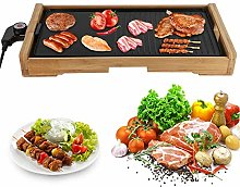 Electric Griddle Non-Stick Grill Pan Bamboo