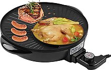 Electric Grill and Hot Pot, 2 in 1 Hot Pot and BBQ
