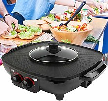 Electric Grill, Electric Barbecue Grill 2 in 1 Hot