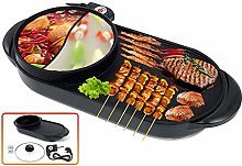 Electric Grill Indoor Hot Pot, Multifunctional