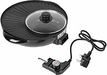 Electric Grill with Hot Pot 2 in 1 Non-stick