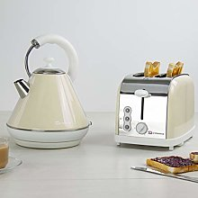 Electric Kettle & Toaster Set, Stainless Steel -