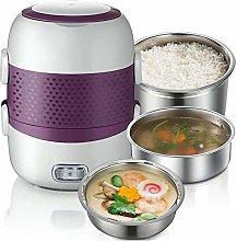 Electric Lunch Box Three Layers Pluggable Heating