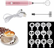 Electric Milk Frother, USB Rechargeable Electric