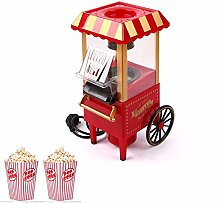 Electric Popcorn Maker Machine, Retro Red Design,