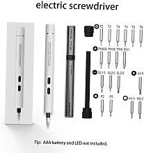 Electric screwdriver small set, computer and