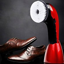 Electric shoe polisher cleaning brush leather