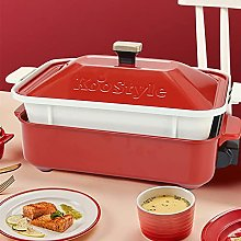 Electric Skillet Grill, Indoor BBQ Grill, Stew and