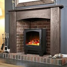 Electric Stove Heater Fireplace Black Flame Effect