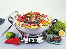 Electric Teppanyaki BBQ Grill Griddle Hot Pot