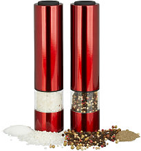 Electrical Pepper Mill, Set of 2, Stylish, LED