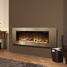 Electriflame Basilica Wall Mounted Fire Champagne