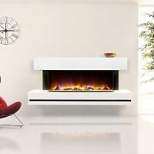 Electriflame Electric Fire White Fireplace Remote