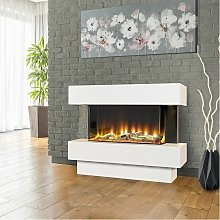 Electriflame Freestanding White Fireplace Electric