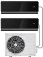electriQ Black Multi-Split 2X 12000 BTU WiFi Smart