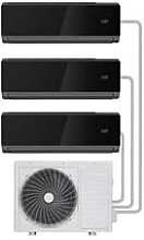 electriQ Black Multi-Split 3X 9000 BTU WiFi Smart