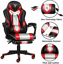 ELECWISH Racing Video gaming Chair with Foot rest