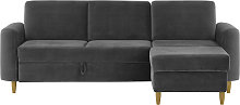 Elegance Corner Sofa Bed With Storage-Velluto 19