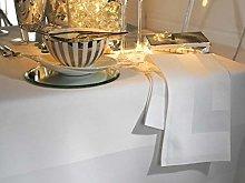 Elegant 100% Cotton Plain Satin Band Table Linen